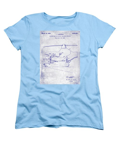 1953 Helicopter Patent Blueprint Women's T-Shirt (Standard Cut) by Jon Neidert