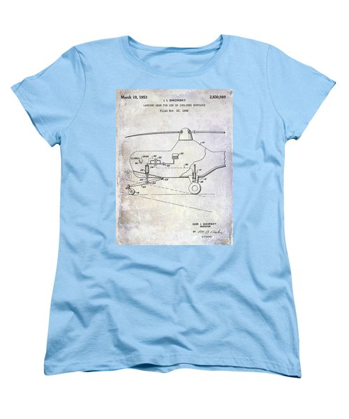 1953 Helicopter Patent Women's T-Shirt (Standard Cut) by Jon Neidert
