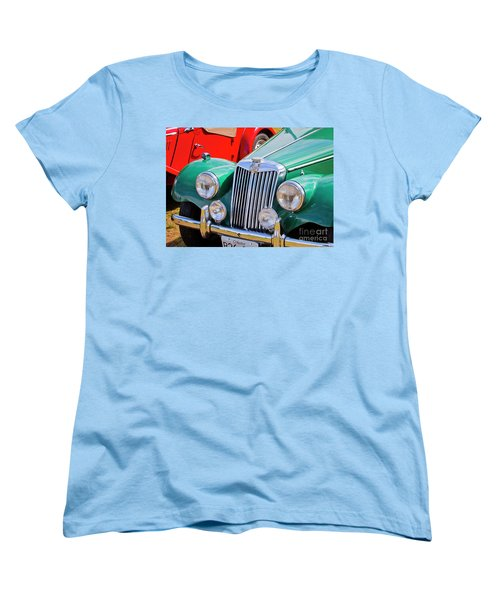 Women's T-Shirt (Standard Cut) featuring the photograph 1954 Mg Tf Sports Car by Chris Dutton