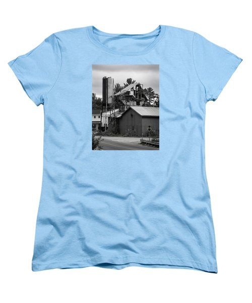 Women's T-Shirt (Standard Cut) featuring the photograph 1955 Redi-mix Cement Plant by Betty Denise