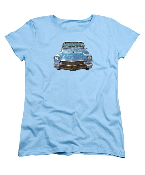 Women's T-Shirt (Standard Cut) featuring the photograph 1956 Cadillac Cutout by Linda Phelps