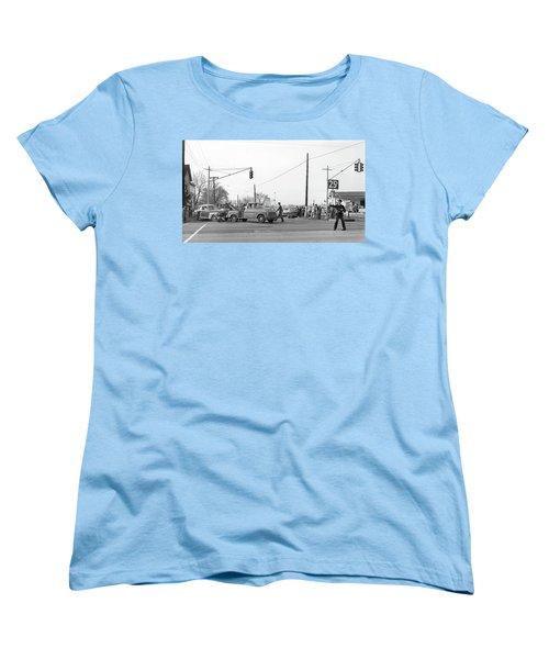 1957 Car Accident Women's T-Shirt (Standard Cut) by Paul Seymour