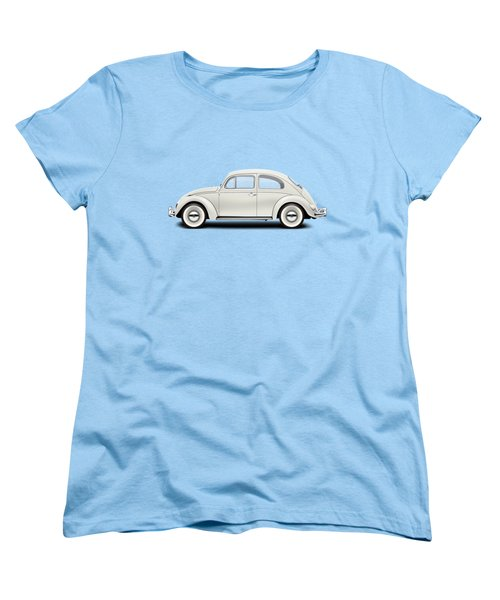 1961 Volkswagen Deluxe Sedan - Pearl White Women's T-Shirt (Standard Cut) by Ed Jackson