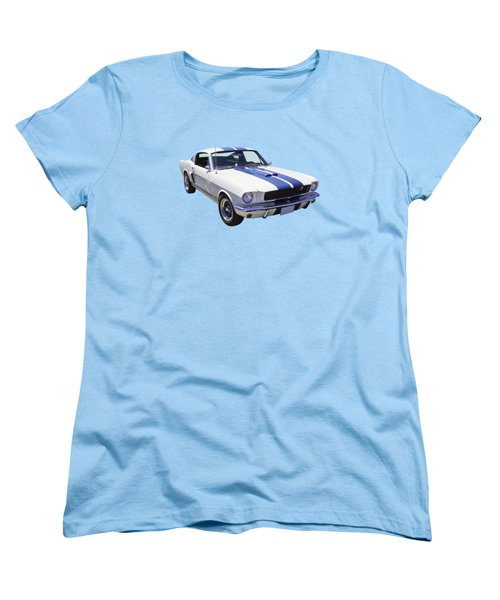 1965 Gt350 Mustang Muscle Car Women's T-Shirt (Standard Cut) by Keith Webber Jr