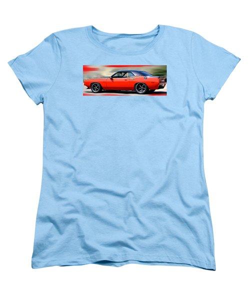 1970 Dodge Challenger Srt Women's T-Shirt (Standard Cut) by Maria Urso