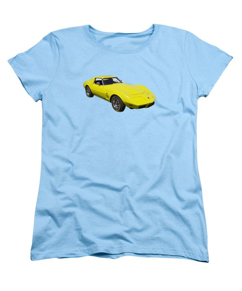 1975 Corvette Stingray Sportscar Women's T-Shirt (Standard Cut) by Keith Webber Jr