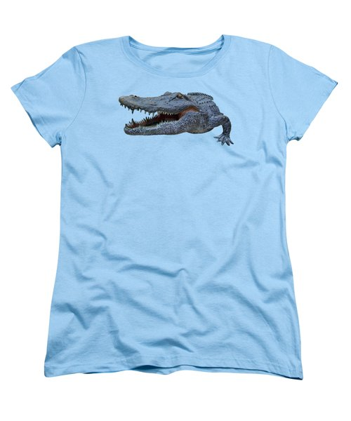 1998 Bull Gator Up Close Transparent For Customization Women's T-Shirt (Standard Cut) by D Hackett