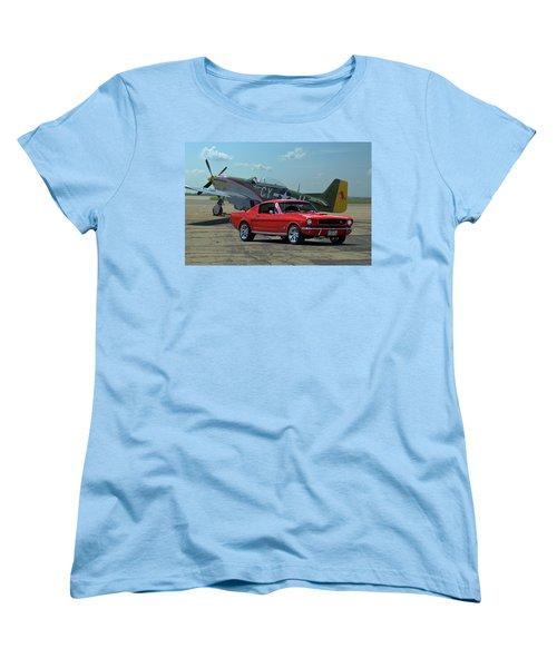 1965 Mustang Fastback Women's T-Shirt (Standard Cut) by Tim McCullough