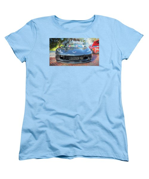 Women's T-Shirt (Standard Cut) featuring the photograph 2017 Chevrolet Corvette Gran Sport  by Rich Franco