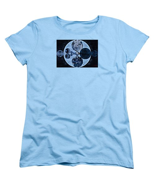 Women's T-Shirt (Standard Cut) featuring the digital art Abstract Painting - Polo Blue by Vitaliy Gladkiy