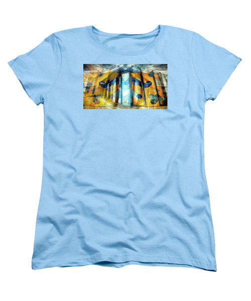 Women's T-Shirt (Standard Cut) featuring the photograph Architectural Abstract by Wayne Sherriff