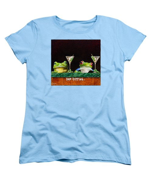 Bar Hopping... Women's T-Shirt (Standard Cut) by Will Bullas