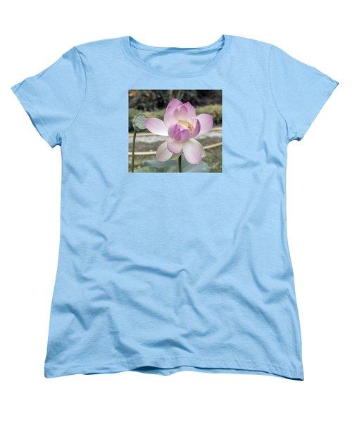 Women's T-Shirt (Standard Cut) featuring the photograph Beautiful Indian Lotus by Odon Czintos