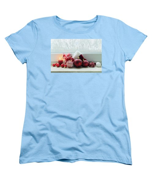 Christmas Windowsill Women's T-Shirt (Standard Cut) by Anastasy Yarmolovich
