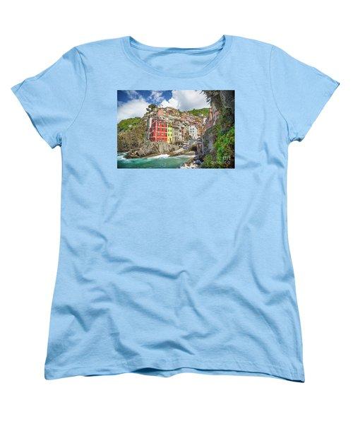 Colors Of Cinque Terre Women's T-Shirt (Standard Cut) by JR Photography