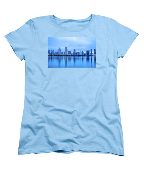 Feeling Blue Women's T-Shirt (Standard Cut) by Joseph S Giacalone