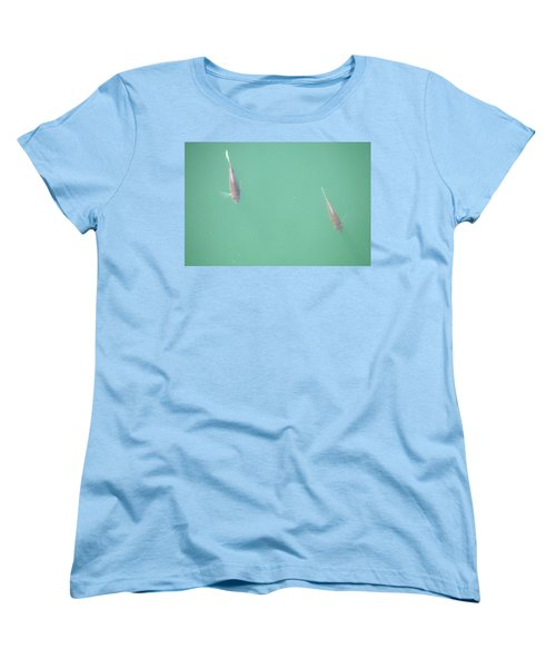 Women's T-Shirt (Standard Cut) featuring the photograph 2 Fish In A Pond by Paul SEQUENCE Ferguson             sequence dot net