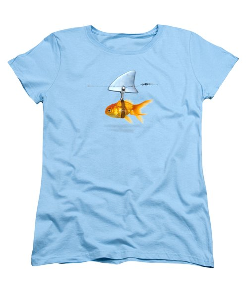 Gold Fish  Women's T-Shirt (Standard Cut) by Mark Ashkenazi