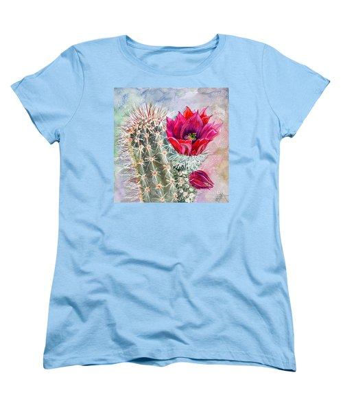 Hedgehog Cactus Women's T-Shirt (Standard Cut) by Marilyn Smith