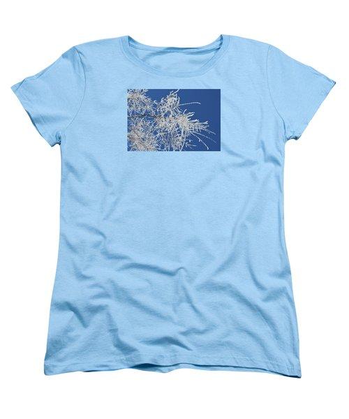 Women's T-Shirt (Standard Cut) featuring the photograph Hoar Frost by Dacia Doroff