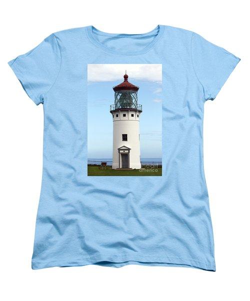 Kilauea Lighthouse On Kauai Women's T-Shirt (Standard Cut) by Catherine Sherman