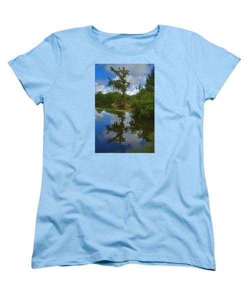 Louisiana  Bald Cypress Tree Women's T-Shirt (Standard Cut) by Ronald Olivier