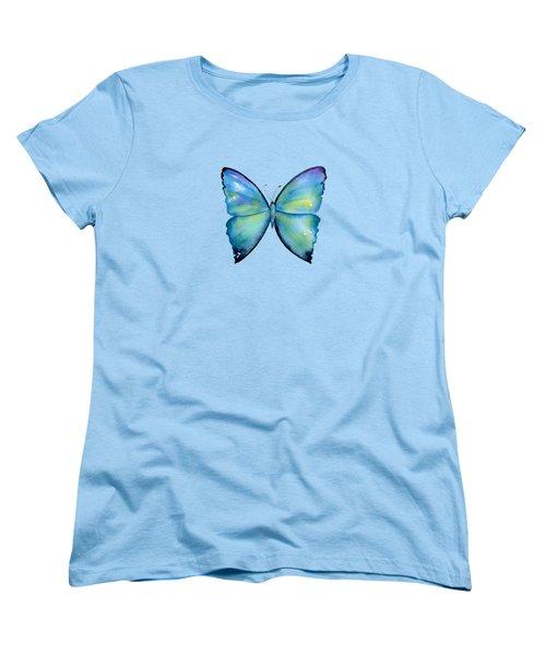 2 Morpho Aega Butterfly Women's T-Shirt (Standard Cut) by Amy Kirkpatrick
