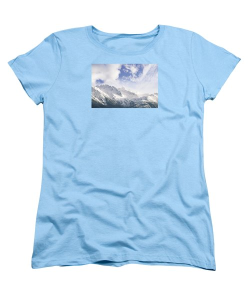 Mountains And Clouds Women's T-Shirt (Standard Cut) by Michele Cornelius