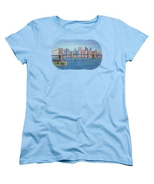 New York Brooklyn Bridge Women's T-Shirt (Standard Cut) by Renato Maltasic