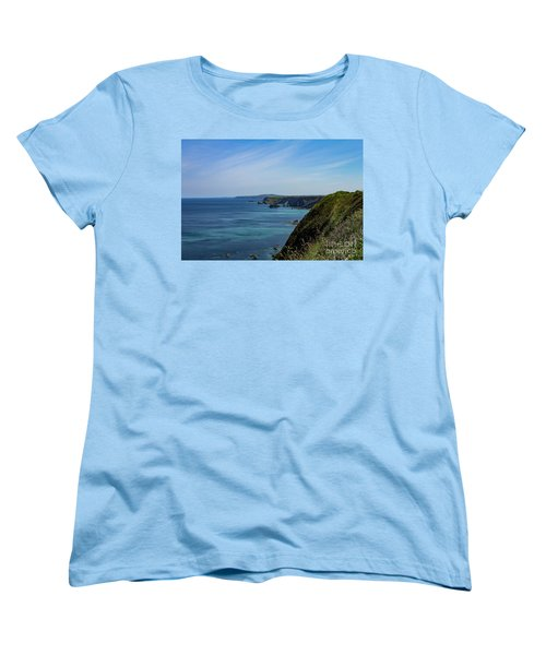 Women's T-Shirt (Standard Cut) featuring the photograph North Coast Cornwall by Brian Roscorla