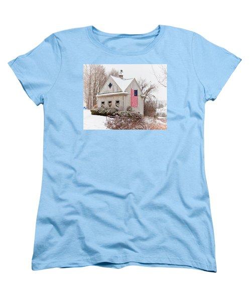 Patriotic Barn Women's T-Shirt (Standard Cut) by Tricia Marchlik