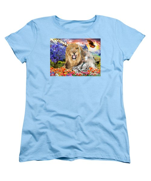 Women's T-Shirt (Standard Cut) featuring the digital art Perfect Peace by Dolores Develde