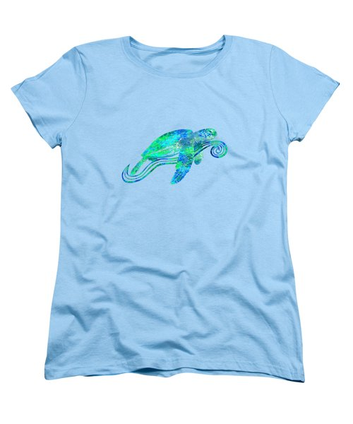 Sea Turtle Graphic Women's T-Shirt (Standard Cut) by Chris MacDonald