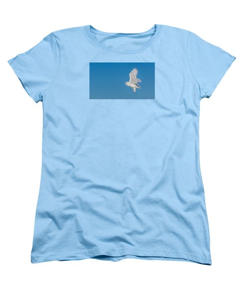 Snowy Owl Women's T-Shirt (Standard Cut) by Dan Traun