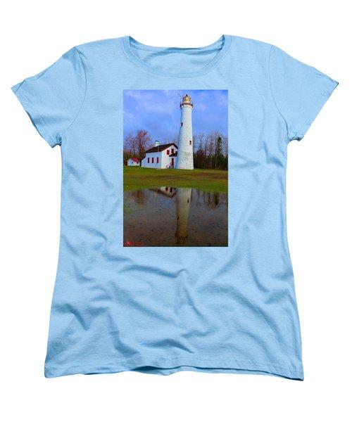 Sturgeon Point Lighthouse Women's T-Shirt (Standard Cut) by Michael Rucker