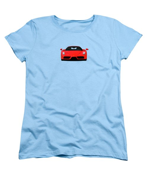 The Ferrari Enzo Women's T-Shirt (Standard Cut) by Mark Rogan