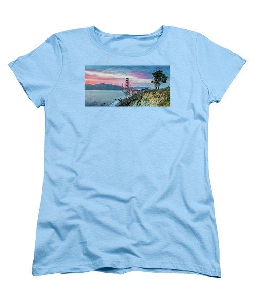 The Golden Gate Women's T-Shirt (Standard Cut) by JR Photography