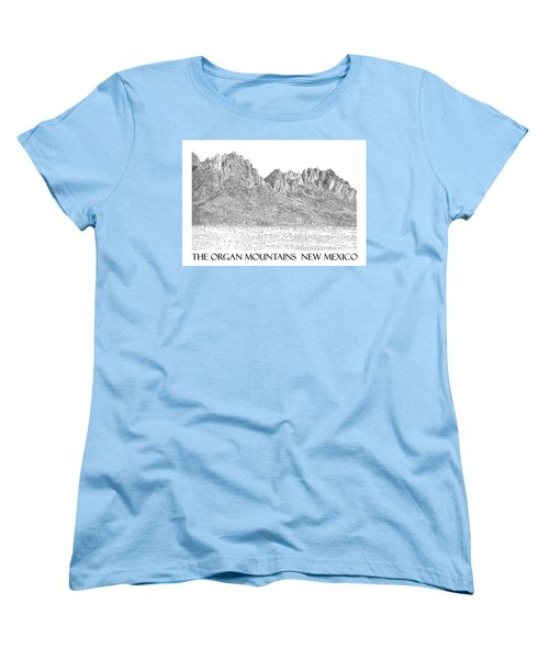 Women's T-Shirt (Standard Cut) featuring the painting The Organ Mountains by Jack Pumphrey