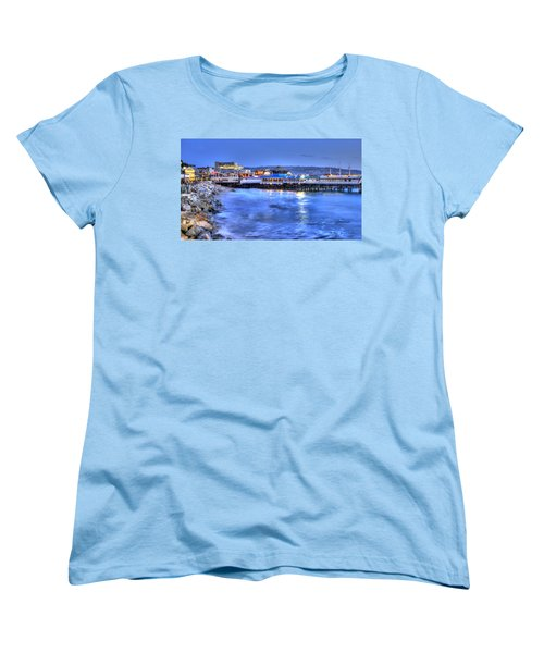 Redondo Landing At Night Women's T-Shirt (Standard Cut) by Richard J Cassato