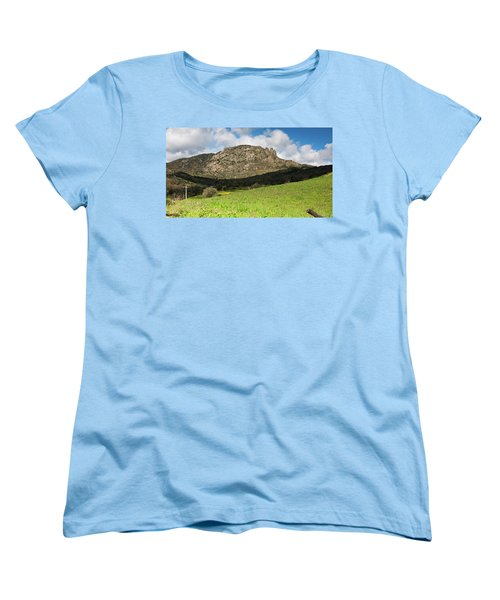 The Three Finger Mountain Women's T-Shirt (Standard Cut) by Bruno Spagnolo
