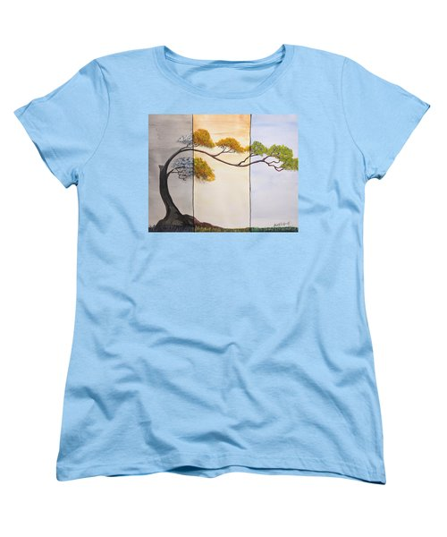 Women's T-Shirt (Standard Cut) featuring the painting Time After Time by Edwin Alverio