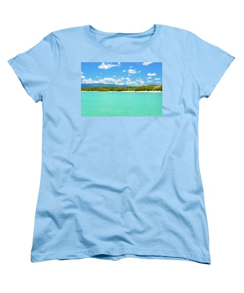 Tortuga Bay Beach At Santa Cruz Island In Galapagos  Women's T-Shirt (Standard Cut) by Marek Poplawski