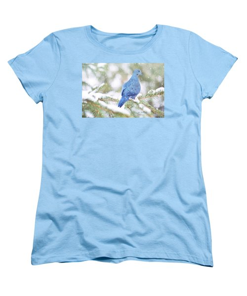 Winter Birds Women's T-Shirt (Standard Cut) by Jill Wellington