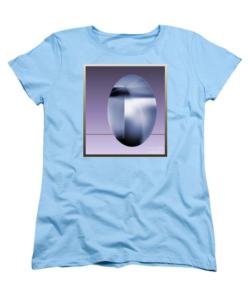 Women's T-Shirt (Standard Cut) featuring the digital art 2007-2 2017 by John Krakora
