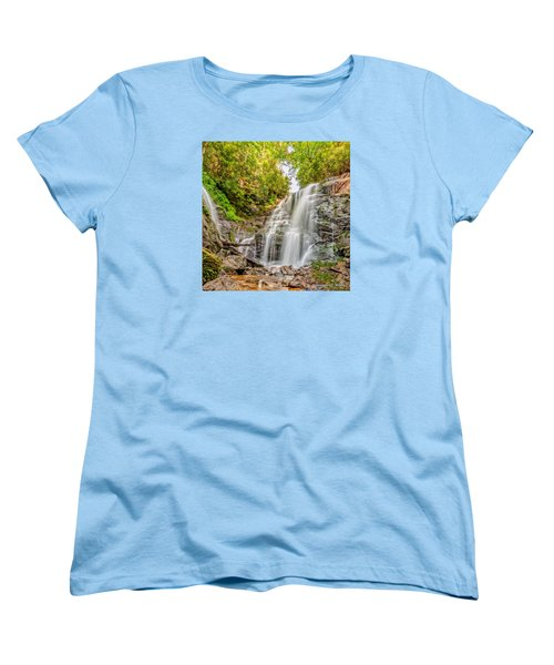 Women's T-Shirt (Standard Cut) featuring the photograph Rocky Falls by Christopher Holmes
