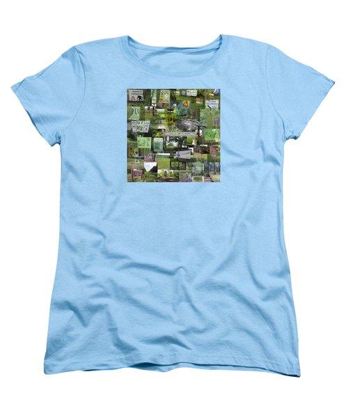 2015 Pdga Amateur Disc Golf World Championships Photo Collage Women's T-Shirt (Standard Cut)