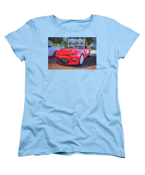 Women's T-Shirt (Standard Cut) featuring the photograph 2017 Chevrolet Camaro Ss2  by Rich Franco