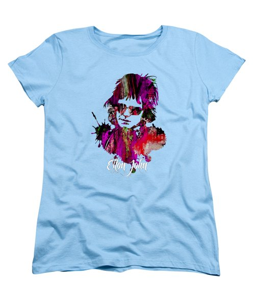 Elton John Collection Women's T-Shirt (Standard Cut) by Marvin Blaine