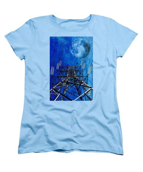 Electric Power Transmission... Women's T-Shirt (Standard Cut) by Werner Lehmann