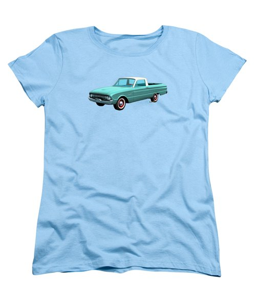 2nd Generation Falcon Ranchero 1960 Women's T-Shirt (Standard Cut) by Chas Sinklier